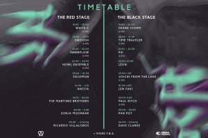 Amore Festival 2015 TimeTable